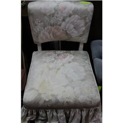 ESTATE FLORAL FABRIC ACCENT CHAIR