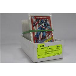 1990 MARVEL COMIC SUPERHERO / VILLAN 162 CARDS SET