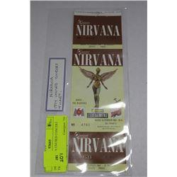 1994 NIRVANA UNUSED CONCERT TICKET