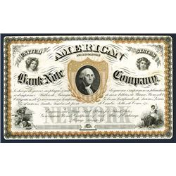 American Bank Note Co. Advertising Sheet in Spanish Similar to their First Stock Certificate.