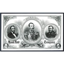 American Bank Note Company Advertising Note From 1860's.
