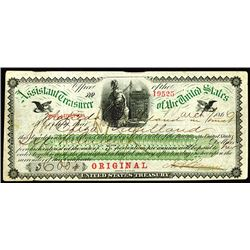 United States Treasury, Assistant Treasurer of the United States at Philadelphia, 1866 Issued Gold C