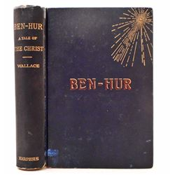 "ANTIQUE 1880  1ST EDITION ""BEN HUR"" HARDCOVER BOOK"