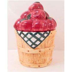 APPLE BUCKET COOKIE JAR
