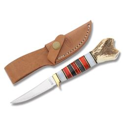 MARBLES MINI SKINNER KNIFE W/ LEATHER SHEATH