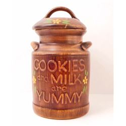 VINTAGE COOKIES & MILK ARE YUMMY COOKIE JAR