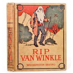 """VINTAGE CIRCA 1900'S """"RIP VAN WINKLE"""" CHILDRENS HARDCOVER BOOK"""