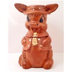 VINTAGE BROWN DONKEY COOKIE JAR