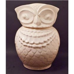 VINTAGE WHITE OWL COOKIE JAR