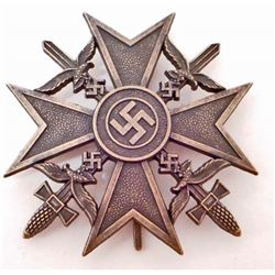 GERMAN NAZI CONDOR LEGION BRONZE SPANISH CROSS WITH SWORDS