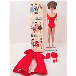 VINTAGE 1960'S BRUNETTE BUBBLE CUT BARBIE DOLL IN ORIGINAL BOX