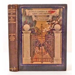 "VINTAGE 1905 ""A CHILD'S GARDEN OF VERSES"" HARDCOVER BOOK"