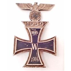 IMPERIAL GERMAN 1ST CASS IRON CROSS WITH NASI 1ST CLASS CLASP