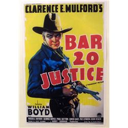 """BAR 20 JUSTICE"" MOVIE POSTER PRINT"