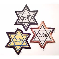 LOT OF 3 HOLOCAUST STAR OF DAVID PATCHES
