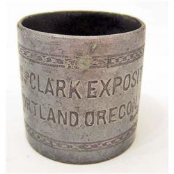 ANTIQUE 1905 LEWIS & CLARK EXPOSITION SILVER NAPKIN RING