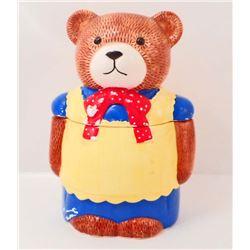 SMALL TEDDY BEAR COOKIE JAR