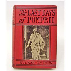 "VINTAGE ""THE LAST DAYS OF POMPEII""HARDCOVER BOOK"