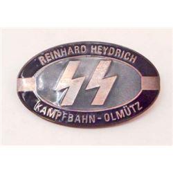 GERMAN NAZI WAFFEN SS REINHARD HEYDRICH ENAMELED BADGE