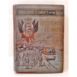"""ANTIQUE 1899 """"THRILLING STORIES OF THE WAR"""""""