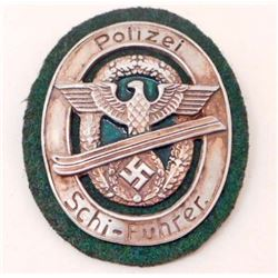 GERMAN NAZI 'POLIZEI SCHI-FUHRER' SHIELD