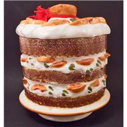 LOS ANGELES POTTERY FRUIT CAKE COOKIE JAR