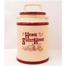 VINTAGE HOME SWEET HOME COOKIE JAR
