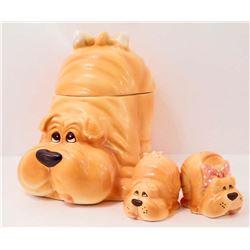 DOG COOKIE JAR / SALT & PEPPER SET