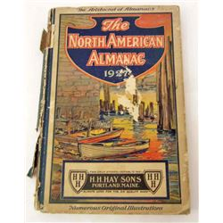 "1926 ""THE NORTH AMERICAN ALMANAC"" HARDCOVER BOOK"