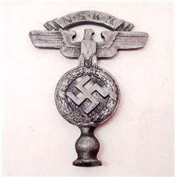 GERMAN NAZI NSKK FLAG POLE TOP