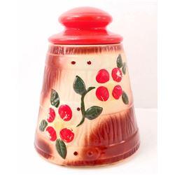 VINTAGE RED CHERRIES COOKIE JAR