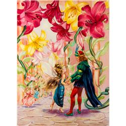 "Final Painting ""The Garden of Paradise"" by Ron Croci for Andersen's Fairy Tales"
