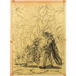 "Preliminary Sketch ""The Garden of Paradise"" by Ron Croci for Andersen's Fairy Tales"