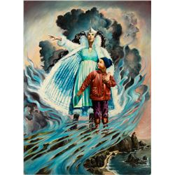 "Final Painting ""The Prince And The Princess"" by Ron Croci for Andersen's Fairy Tales"