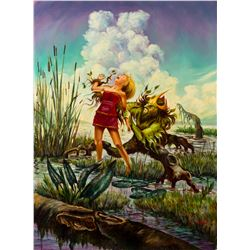"Final Painting ""The Marsh King's Daughter"" by Ron Croci for Andersen's Fairy Tales"