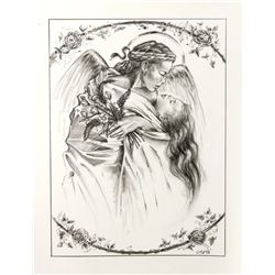 "Final Drawing ""The Angel"" by Ron Croci for Andersen's Fairy Tales"