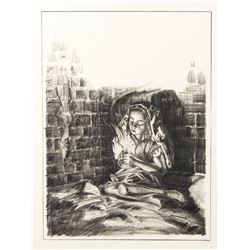 "Final Drawing ""The Little Match Girl"" by Ron Croci for Andersen's Fairy Tales"