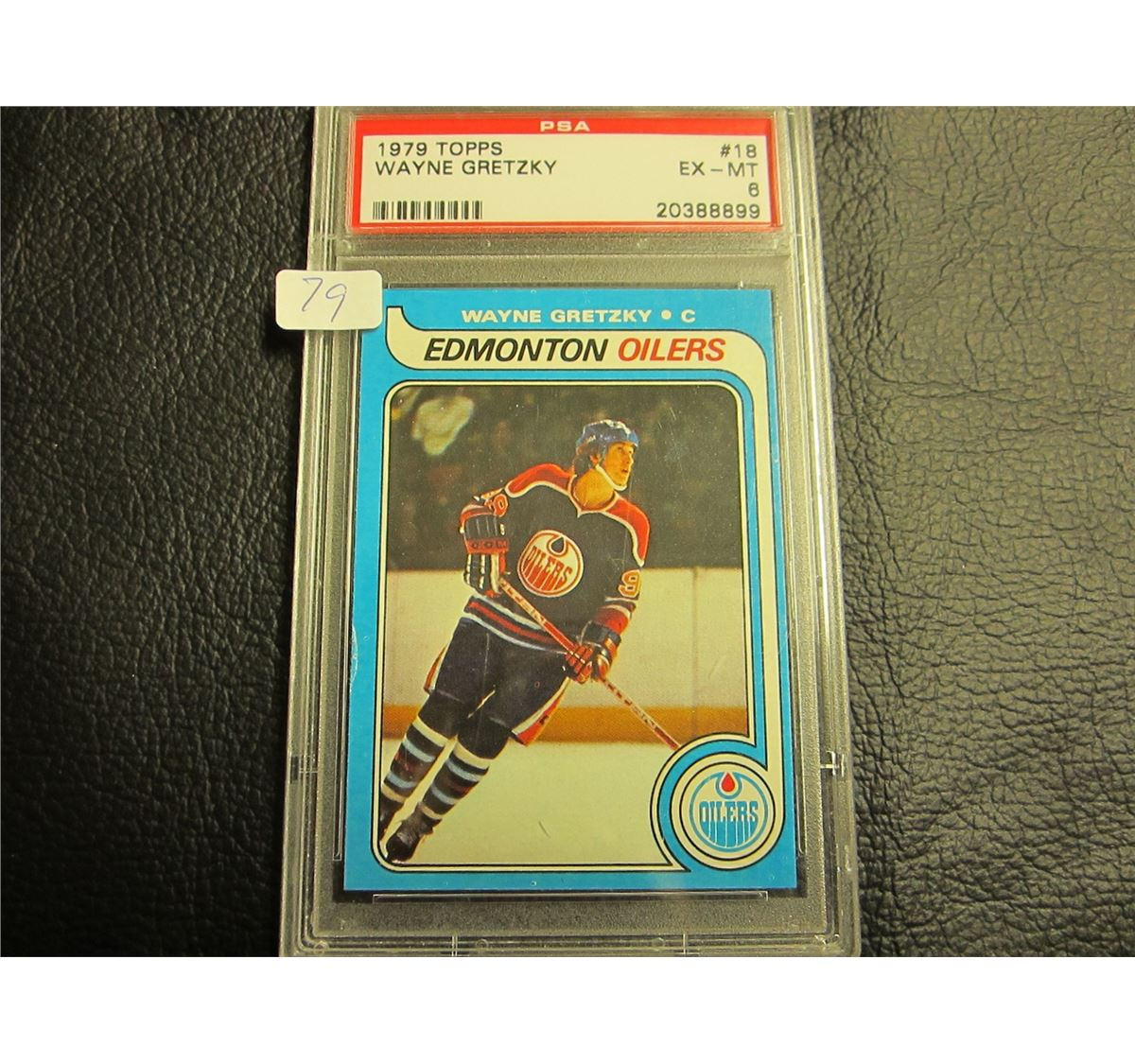 1979 80 Wayne Gretzky Rookie Card Graded 6 Ex Mt Topps