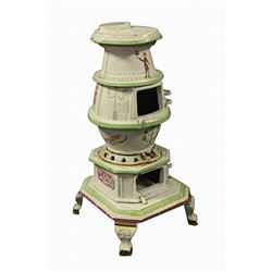 "Walt Disney hand-painted and hand crafted ""Lilly Belle"" miniature pot belly stove."