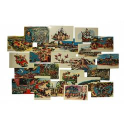 Disneyland opening day complete set of (24) postcards guidebook.