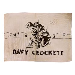 1955 Disneyland Opening Day Frontierland DAVY CROCKETT FRONTIER MUSEUM and MERCANTILE Flag Banner SI