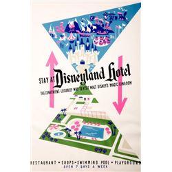Original Disneyland Hotel  attraction poster.