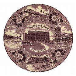 Disneyland Hotel souvenir plate.