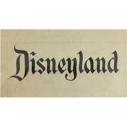 Original Disneyland logo concept sketch .