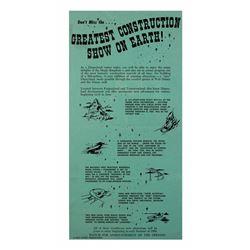 1959 construction announcement gate flyer .