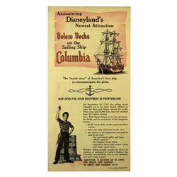 Sailing Ship Columbia/Enchanted Tiki Room 1963 gate flyer.