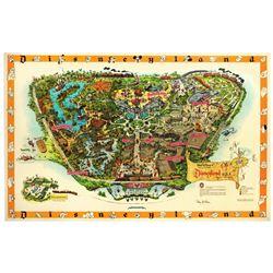 """Sam McKim signed 1958 """"c"""" souvenir map."""