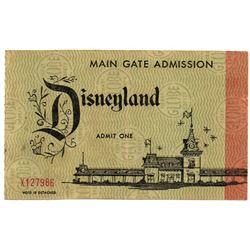 Disneyland unused adult jumbo admission ticket.