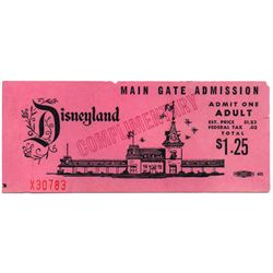Complimentary adult main gate admission Ticket.
