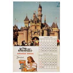 Nesbits of California Disneyland picture calendar.